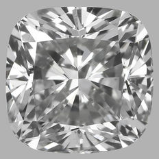 0.50ct Cushion Diamond E VS2 IGI - SEALED serial#1470 Original Image 10X