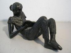 "Gerda Rubinstein - sculpture ""Bookworm""-made on commission."