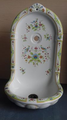 Sink / wall fountain in ceramic - France? -ca. 1920