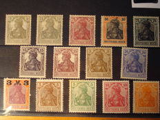 German Reich - on 7 plug-in cards AND K.K Austrian port: printed material special delivery stamps heads of mercury serrated