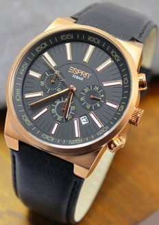 Esprit – Men's Rose Gold Stainless Steel Chronograph Watch