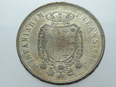 Kingdom of Two Sicilies - 120 Ducats, silver coin, 1818, Ferdinand I