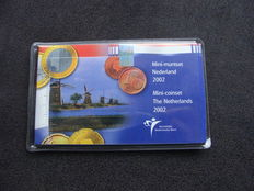 The Netherlands – mini coin set 2002 with mini Euro coins.