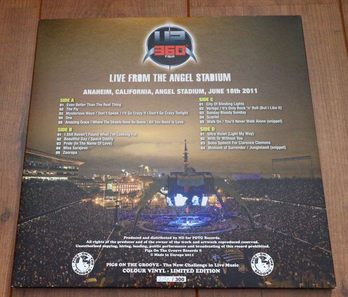 U2- 360° Tour- Live From The Angel Stadium 2lp/ Limited