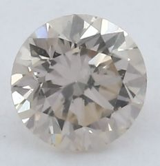 0.10 ct. very Light Pink Diamond - Round Brilliant