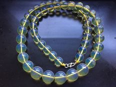 Blue Mexican Amber Necklace - Free shipping