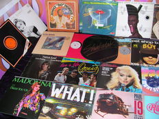 """Various Artists mainly 80's Lot of 29  12"""" Maxi Singles like  Disco, Soul, Funk, Beat, New Wave and Pop and Rock. Wih Madonna, Grace Jones, Soft Cell, Blondie etc."""