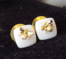 925 sterling silver honeybee pins ( small cufflinks)