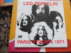Lot of one Led Zeppelin LP and one Led Zeppelin Biography Book Paris Studio 197 1 LP Atlantic / Dave Lewis A Celebration Biography Omnibus Press