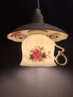 Nice set of two lamps from original vintage Bone China teacup