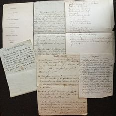 Manuscripts; Lot with 9 handwritten recipes by Prince Serge Vincent Wiasemsky - 1st half of the 20th century