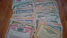 USA-collection of 97 different US stocks, very decorative