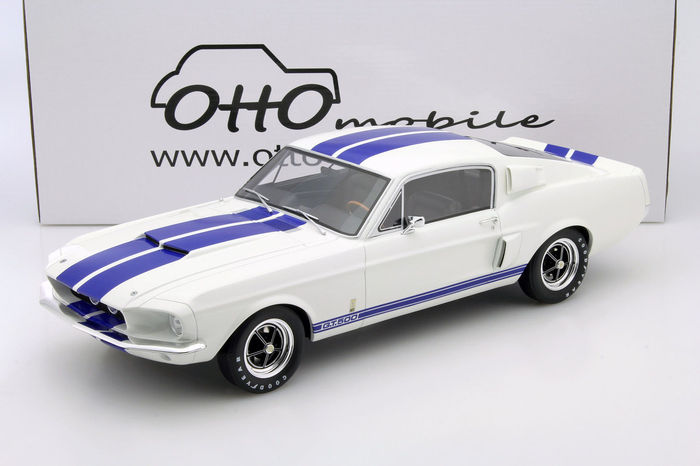 mustang shelby gt500 1967. otto mobile - scale 1/12 ford mustang shelby gt500 1967 white/ gt500