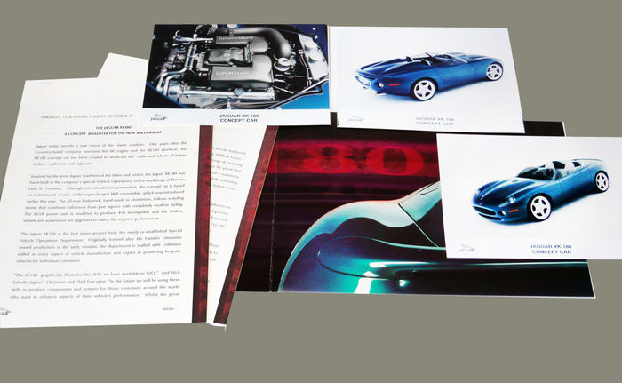 Jaguar XK 180   Press Kit For A Concept Roadster For The New Millenium   50  Years After The XK 120 Sportscar