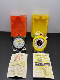 Hanhart pocket watches/stopwatches, West Germany, 1970s