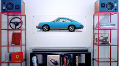 Painting on plexiglass - Porsche 911 2.0 S MEXICO BLUE