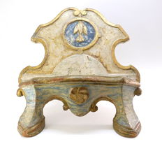 Table lectern in painted and gilded wood - Italy - 18th century