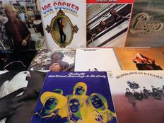 Lot of twelve great pop and rock albums, incl. the Beatles, Tom Petty, Santana and Julie Driscoll.
