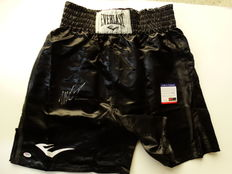 Mike Tyson Authentic Signed Everlast Boxing Trunks Autographed PSA/DNA