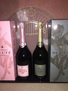 Champagne Deutz magnums: Deutz Classic & Deutz Rosé – Lot of 2 magnums (1.5ltr)
