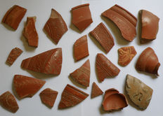 Lot comprising 21 Roman Terra Sigillata Fragments (21 x) - Various sizes