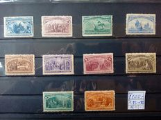 USA 1893 - Columbus from 1 to 30 cents. Michel 73 to 82