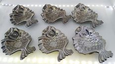 6-piece silver set for the table - Fish