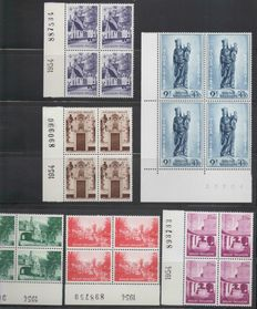 Belgium – Brugge Béguinages Series – Blocks of 4 – COB 946/51