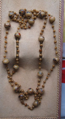 Necklace of Chinese porcelain beads.