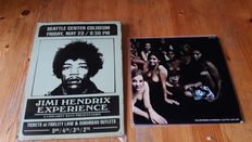 Jimi Hendrix Lot  Of 2  Items  Electric Ladyland / Are You  Experienced Doublealbum + Tin  Plate [ Replica  ] Concertposter