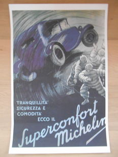 Michelin Superconfort - Original poster of 'Superconfort' Michelin from 1989 - 60 x 40 cm