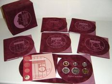 The Netherlands – Year sets (Proof) 1996/2001 (6 different ones)