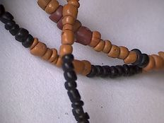 Archaic glass microbeads necklace - Indo Pacific beads