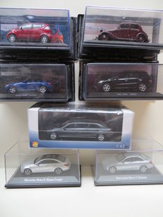 Kyosho / Norev / GLM Models / DeAgostini - Scale 1/43 - Lot with 7 Mercedes-Benz models