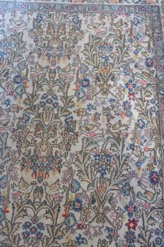 Old Persian isfahan hand knotted 132x212 cm around 1970