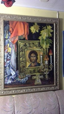 Art discovery from St.Petesrburg Russian - Oil colour painting - 1991