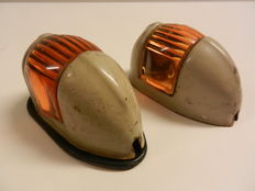 Old side blinkers - for a classic car from the 1950s - these come from a Volkswagen Beetle - about 1957