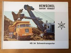 Henschel / Mercedes/ MAN - Brochures HENSCHEL company vehicles 1960s four pieces, Mercedes Benz brochure 1970s, MAN watch