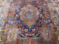Dreamy beautiful Persian carpet, Kashmar/Iran, 355 x 285 cm, approx. 1990 - 1995, well preserved