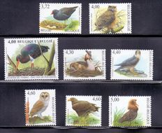 Belgium 1986/2010 - Advanced collection Buzin birds with varieties
