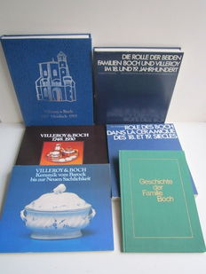 Lot with 6 books about Villeroy & Boch - 1968/1977