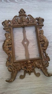 baroque bronze picture frame, 20th century