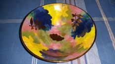 Mark Prescott - colour and gold leaf patterned bowl