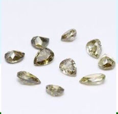 Lot of 10 colour pear-shaped diamonds - 1.21 ct