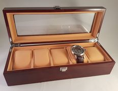 Luxurious, solid rosewood watch box
