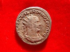 Roman Empire - Valerian I (253-260 A.D.) billon antoninianus (4,20 g. 20 mm.). Antioch mint. VIRTVS.AVGG.