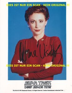 Star Trek Deep Space 9 - 2x photos with original signatures - Nana Visitor and Rene Auberjonois