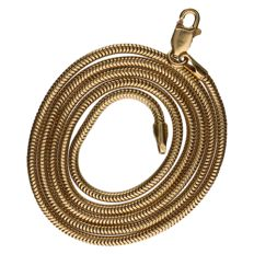 Yellow gold snake shackle necklace, 14kt