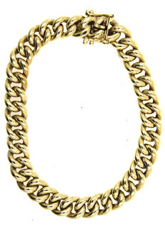 Solid curb bracelet - 585 yellow gold