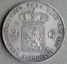 The Netherlands – 2½ gulden 1848 Willem II – silver
